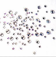 Стразы для ногтей, Crystal Clear, микс размеров, 100 шт.