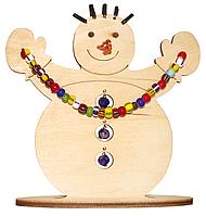 F-033 Набор новогоднее украшение из фанеры Снеговик