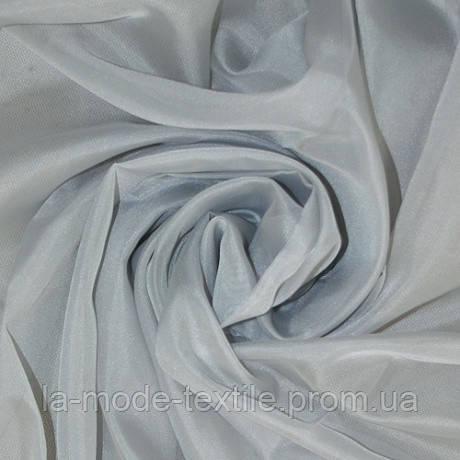Однотонный тюль вуаль светло-серый