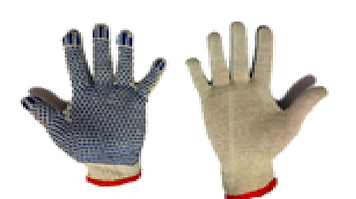 Перчатки с ПВХ точкой х\б польша