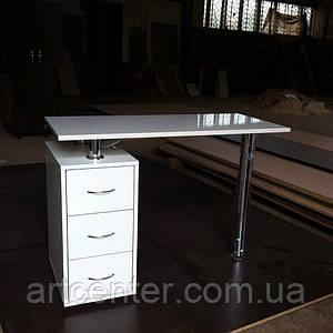 Маникюрный стол ,Офисный стол белый глянец