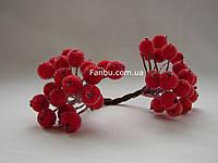 Искусственные засахаренные ягоды для декора красные, d=1,2 см (1 упаковка - 40 ягодок)