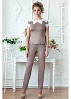 3113 Женская пижама с брюками из вискозы Tomila (мокко) фирмы Komilfo