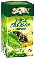 Чай зеленый Big active Herbata zielona z owocem Pigwy (Биг актив зеленый с ананасом и айвой) 120 г. Польша