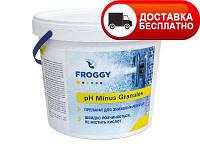 Препарат для понижения уровня pH, FROGGY ph minus 25 кг