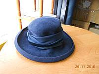 Темно-синяя фетровая шляпка, фото 1