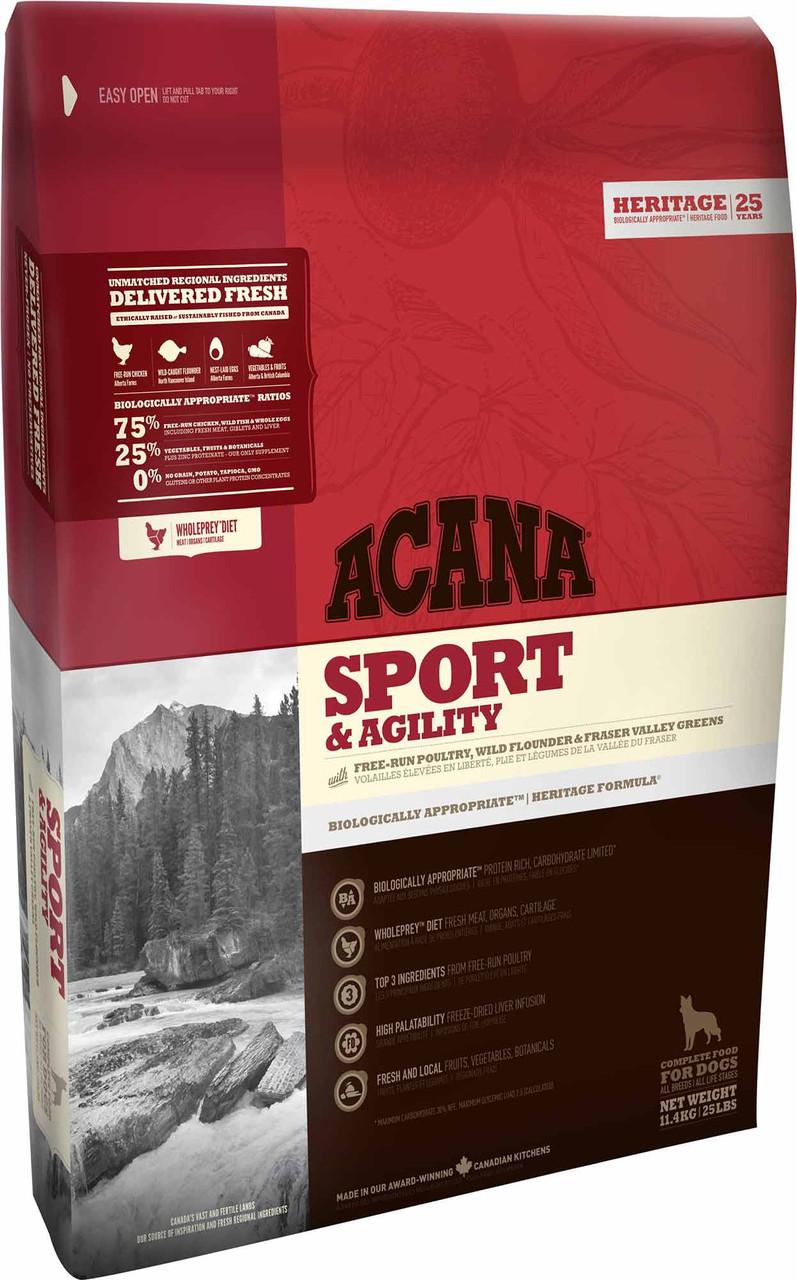 Acana SPORT & AGILITY 11.4 кг - корм для взрослых активных и рабочих собак