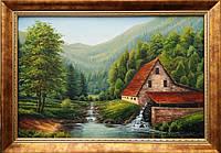 «Домик в горах» картина маслом