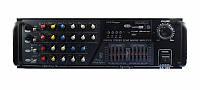 Усилитель звукового сигнала AMP KA300/2016: 2х150 Вт, FM тюнер, USB, карт ридер, МР3 плеер, 220V