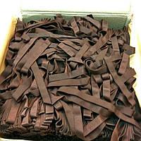 Шлейка для бюсгалтера резинка германия коричневая атласная фурнитура для белья