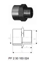 Переходные муфты, Латунь / PVC-U