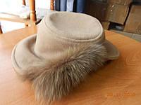 Кашемировая шляпка беж