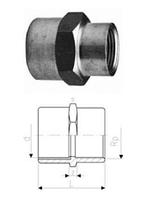 Переходные муфты, Латунь/PVC-Uметрические -Rp