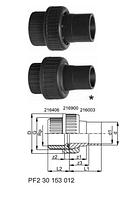 Переходные разъемные муфты PRO-FIT, PVC-Uметрические -Rp