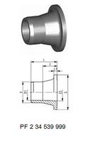 Втулка клапана тип 546 PP-H (G35)С патрубком для стыковой сварки IR-Plus®SDR11,метрический