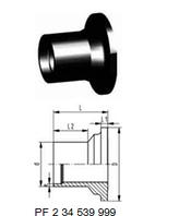 Втулка клапана тип 546 PE-100 (G42)С патрубком для стыковой сварки, SDR11,метрический