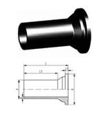 Втулка клапана тип 546 PE-100 (G43)С удлиненным патрубком для стыковой сварки,SDR11, метрический