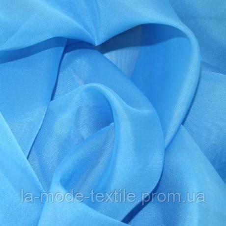 Однотонная тюль вуаль небесно-голубая