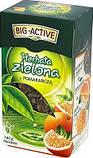 Чай зеленый Big active Herbata zielona z Pomarancza (Биг актив зеленый с кусочками апельсина) 120 г. Польша, фото 2