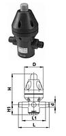 Клапан понижения давления типа V 782, PVC-UС патрубками для клеевого соединения