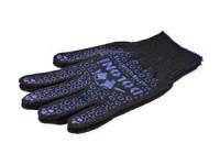 Трикотажные перчатки синие с ПВХ рисунком Doloni 667