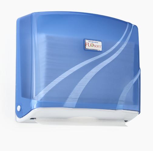 Диспенсер на 200 паперових рушників Z додавання, АБС пластик, колір блакитний