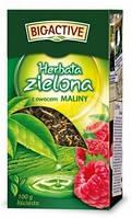 Чай зеленый Big active Herbata zielona z owocem Maliny (Биг актив зеленый с малиной) 100 г. Польша
