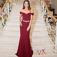 Женское стильное вечернее платье в пол (5 цветов)