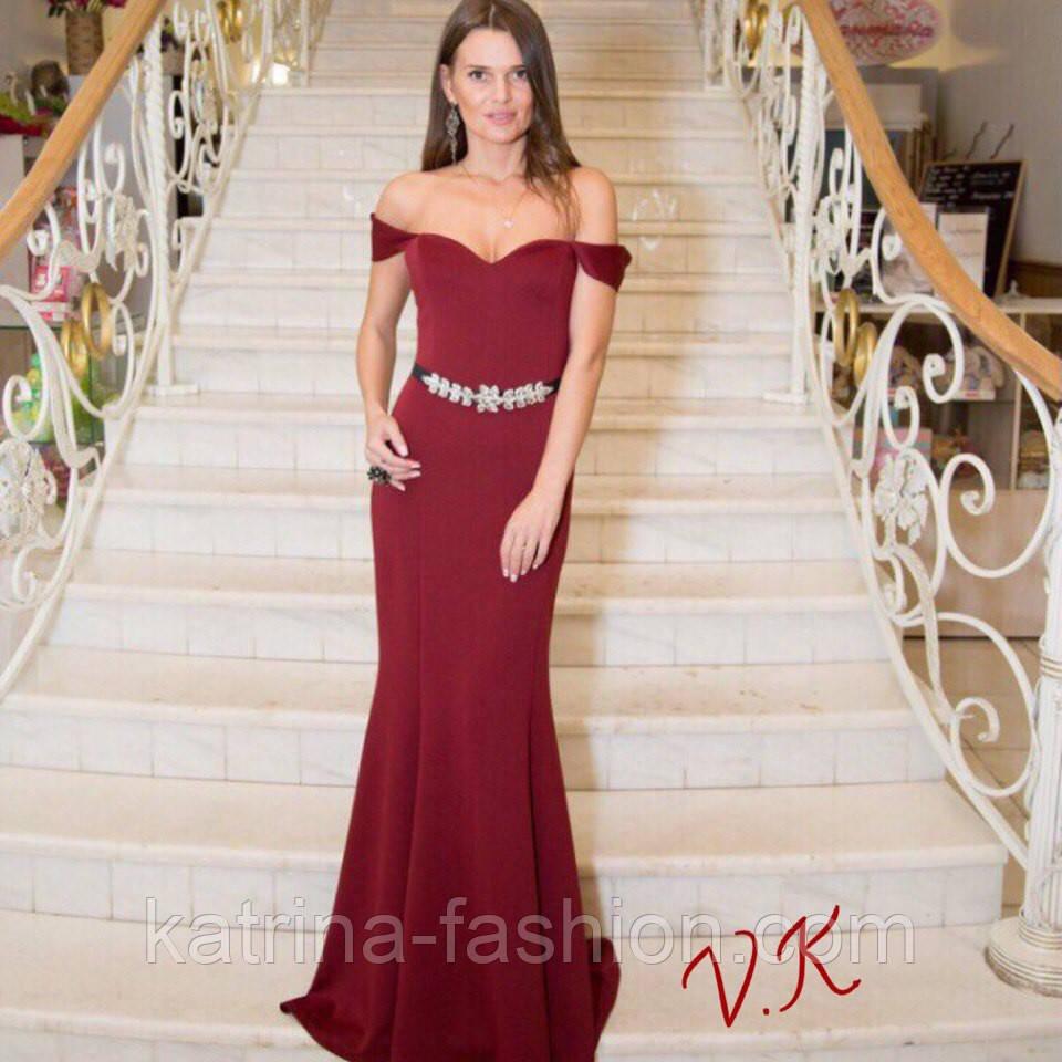 e57a90a733e Женское стильное вечернее платье в пол (5 цветов)  продажа