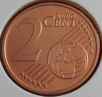 Монета Австрии. 2 евро цента 2007 г.