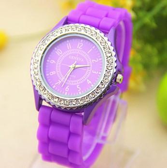 Годинники жіночі Geneva Crystal purple (фіолетовий)