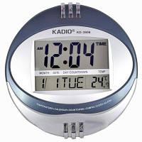 Часы электрические настольные KD-3806N: календарь, термометр, 12/24 ч, будильник, 19х17 см