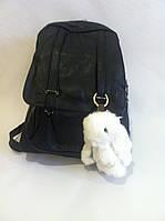 Белый зайка меховый брелок на сумку