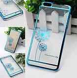 Чехол-бампер Flower Blue для Apple iPhone 5/5s, фото 3