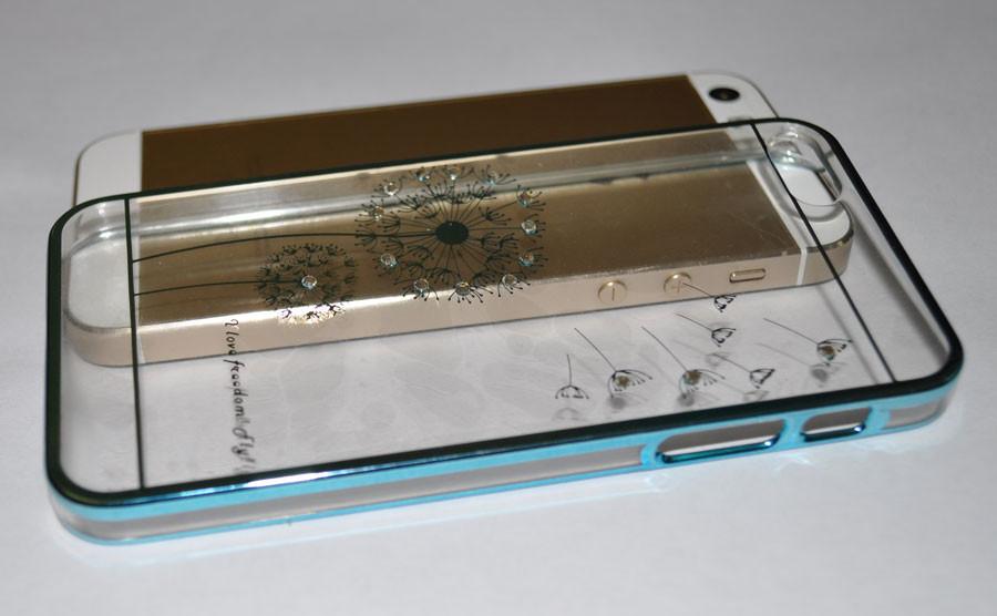 Чехол-бампер Flower Blue для Apple iPhone 5/5s