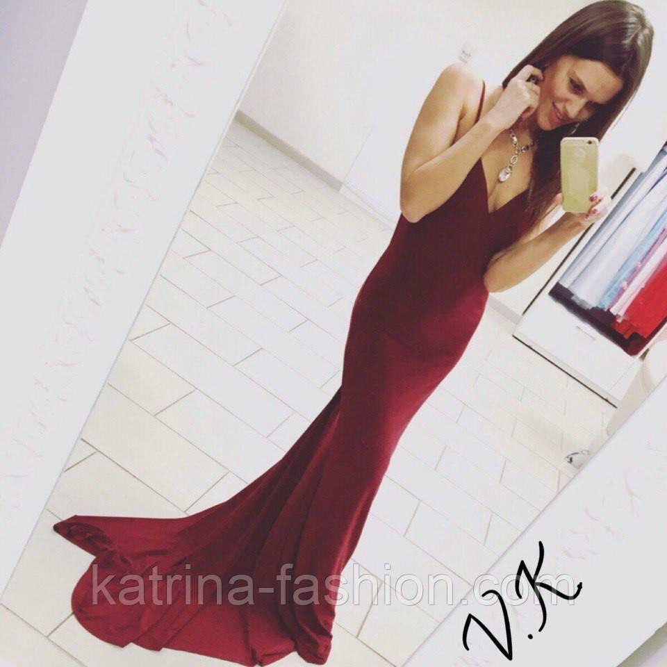 dbdb474e2cb Женское нарядное вечернее платье в пол с открытой спиной (3 цвета ...