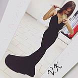 Женское нарядное вечернее платье в пол с открытой спиной (3 цвета), фото 4