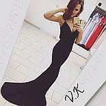 Женское нарядное вечернее платье в пол с открытой спиной (3 цвета), фото 5