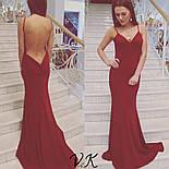 Женское нарядное вечернее платье в пол с открытой спиной (3 цвета), фото 6