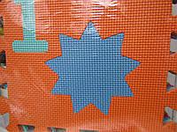 Мягкие пазлы коврик большой,10 элементов 27*28 см.
