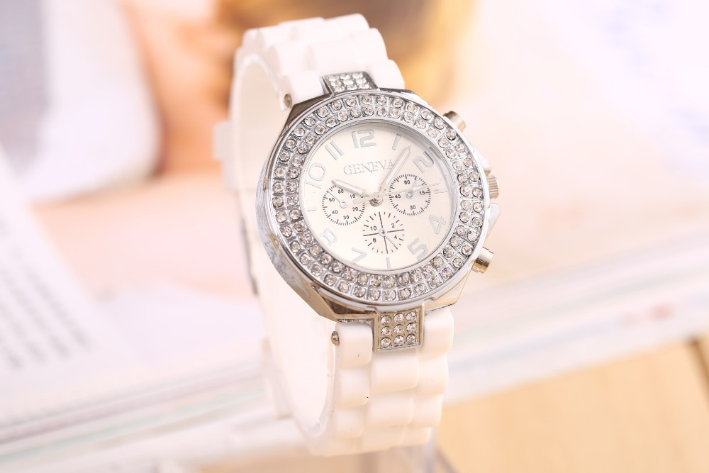 Часы женские GENEVA CRISTIS white