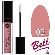 Bell HypoAllergenic - Блеск-лак для губ Liquid Lip Lacquer (гипоал.) Тон №03 pink nude лаковый