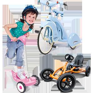 Дитячий транспорт - самокати, скутери, велосипеди, скейти, ролики і захист