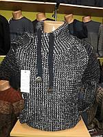 Мужской свитер вязаный теплый под горло