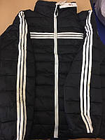Мужская  куртка с капюшоном 6587 черный XXL
