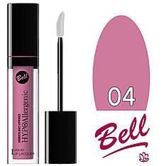 Bell HypoAllergenic - Блеск-лак для губ Liquid Lip Lacquer (гипоал.) Тон №04 light lilac лаковый
