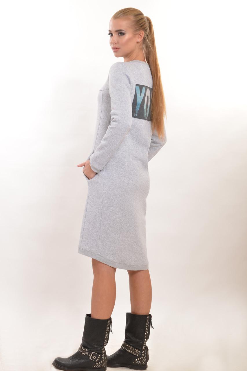 Модно теплое платье для девочки подростка