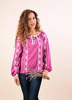 Женская блуза вышиванка свободного кроя в современном стиле