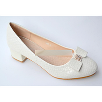 Свадебные туфли на низком каблуке 4 см (Т-Н66-2) РАЗМЕР 36, 37, 38, 40
