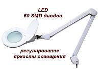 Лампа-лупа модель 8066-U LED с увеличением линзы на 3 диоптрии, крепление к столу